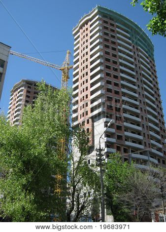 Construction in Saratov.