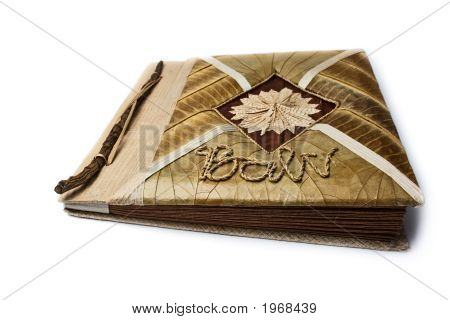 Picture Album Made Completely From A Tree. An Inscription On A Cover