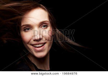 Smiling Woman At Night