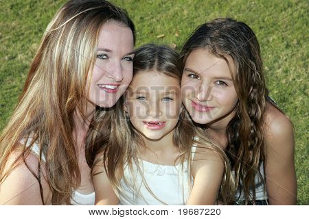 Trio of girls at the park