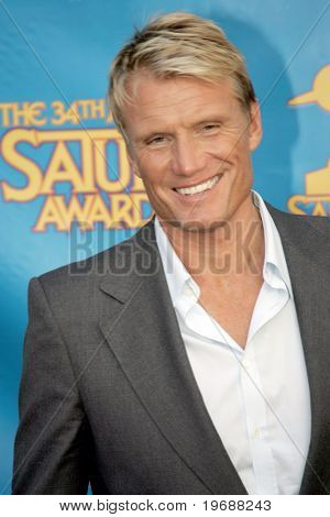 UNIVERSAL CITY, CA - JUNE 24: Actor Dolph Lungren attends the 34th Annual Saturn Awards at the Hilton Hotel June 24, 2008 in Universal City, California.