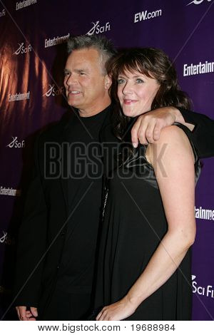 SAN DIEGO, CA - July 26: Actors Richard Dean Anderson & Amanda Tapping attend the annual Comic Con International SciFi Channel party hosted by Entertainment Weekly on July 26, 2008 in San Diego, CA.