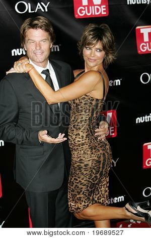 LOS ANGELES - SEPTEMBER 21: Actors Harry Hamlin & Lisa Rinna attend the 6th Annual Primetime EMMY After Party presented by TV Guide at The Kress on September 21, 2008 in Los Angeles.