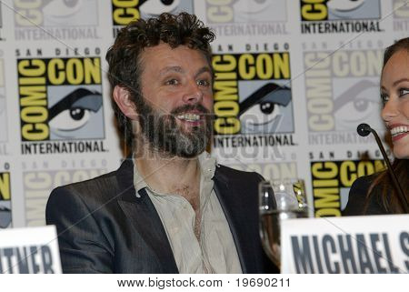 SAN DIEGO, CA - JULY 22: Michael Sheen  answers questions at a press conference for
