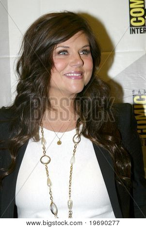 SAN DIEGO, CA - JULY 22: Tiffani Thiessen arrives in the press room for