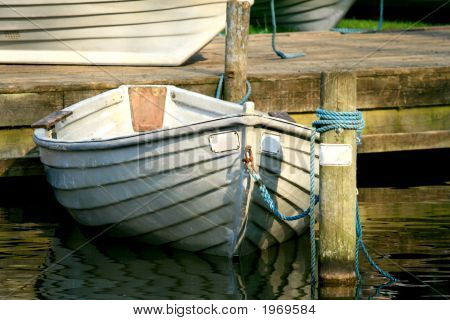 Anchored Row Boat