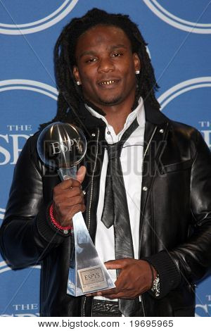 LOS ANGELES - 14 de julho: Chris Johnson na sala de imprensa do 2010 ESPY Awards, no Nokia Theater - L