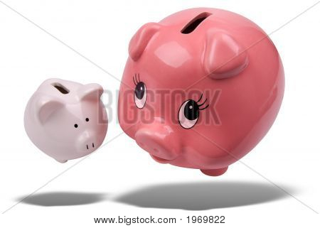 Piggy Banks Floating