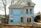 stock photo of raunchy  - abandoned old house - JPG