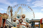stock photo of ferris-wheel  - Amusement park rides - JPG