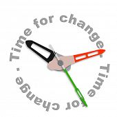 picture of evolve  - Time for change improve for the better evolve and innovate clock indicating improvement - JPG