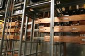 stock photo of busbar  - Copper busbar and insulator - JPG
