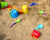 Sand Toys On The Beach poster