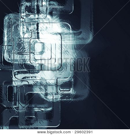 abstract texture of soft metal squares