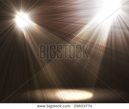two spotlights Black and White Lighting Equipment