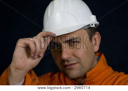 Miner Saluting