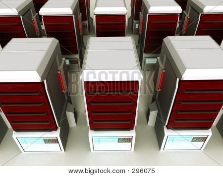 Futuristic Server Farm