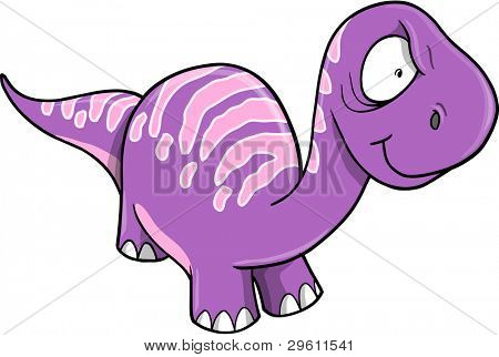 Crazy Insane Purple Dinosaur Vector illustration