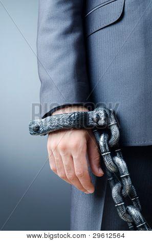Kaufmann Konzept Verbrechen verhaftet