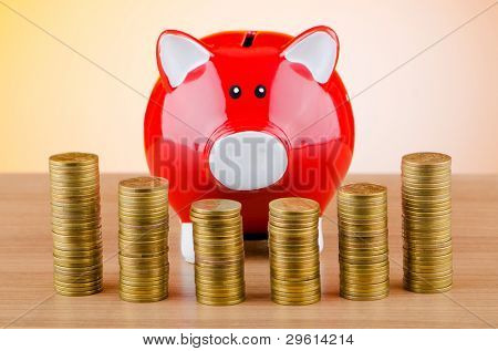 Piggy Bank in Business-Konzept