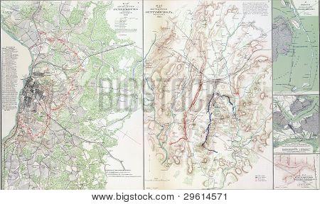 Map Of Battles Of Gettysburg
