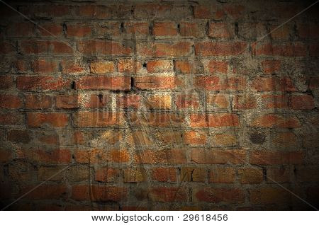 Dark Grungy Brick Wall As Background