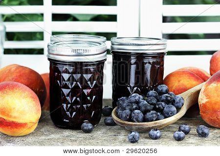 Blueberry Peach Preserves