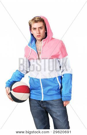 Sporty Guy With Ball
