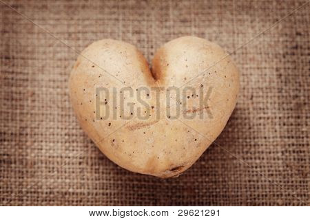heart shape potato - fruits and vegetables