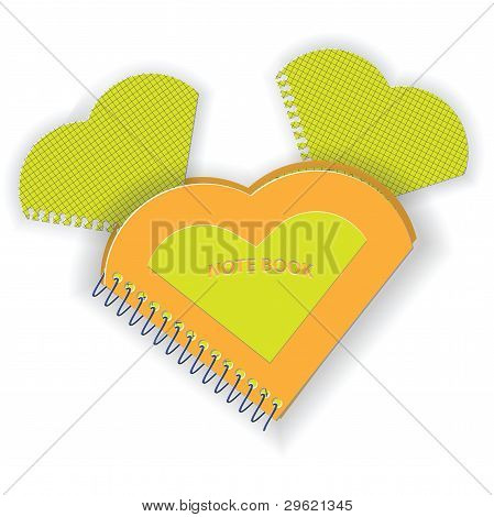 Notebook In The Form Of Heart