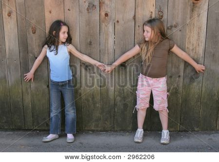 Stock photo : Best Friends Holding Hands