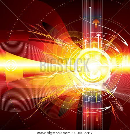 Abstract technology composition background.