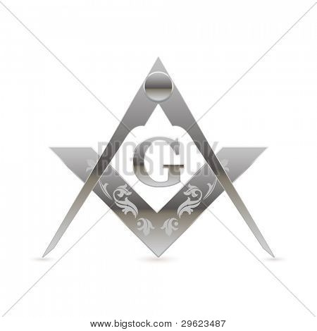 Freemason square and compasses symbol