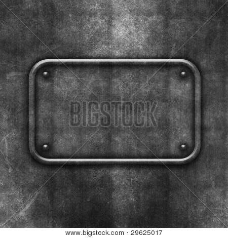 Grunge background with concrete texture and rivets