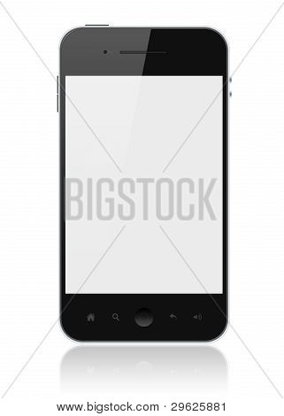 Apple Iphone With Blank Screen Isolated