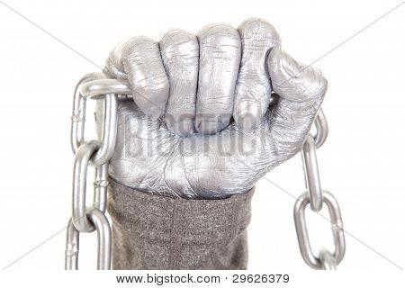 Hand Silver Chain