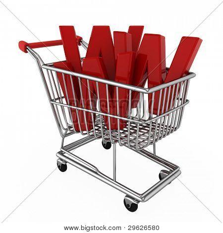 Ilustração 3D, representando o E-commerce