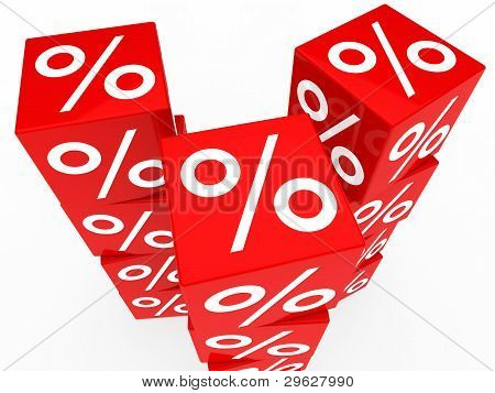 Red Sale Cubes Tower
