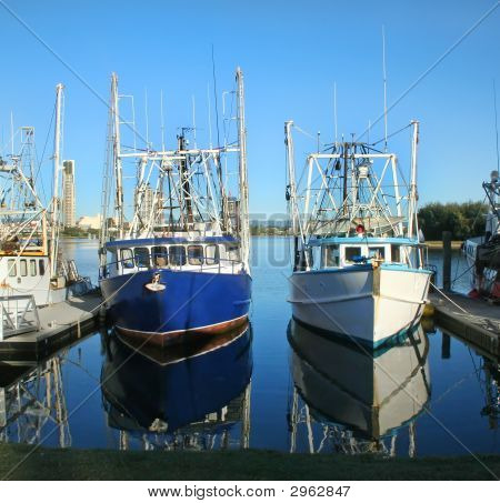 Prawn Trawlers At Dock