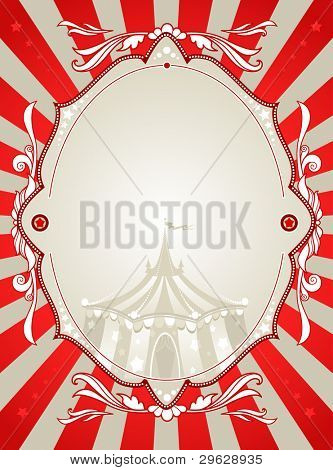 Vintage circus background  with space for text