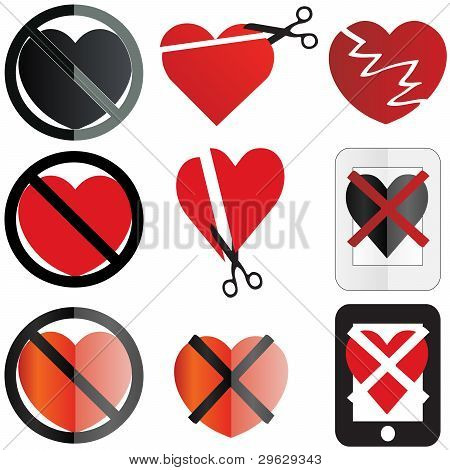 Anti Valentine Icons