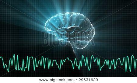 El cerebro de cristal y el gráfico de la onda