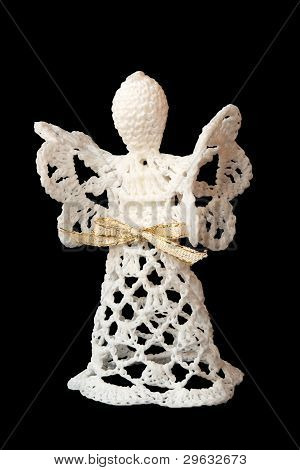 Angel Made From Lace Isolated