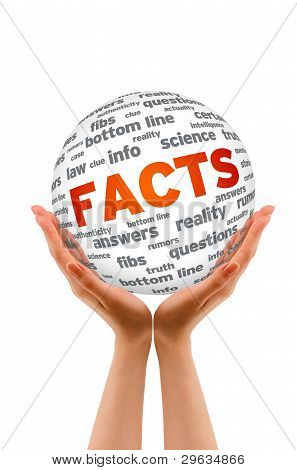 Hands Holding A Facts Sphere