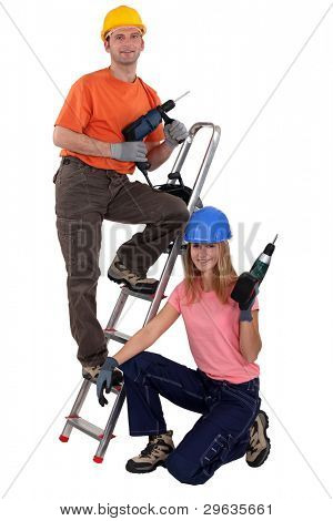 Couple of DIY enthusiasts