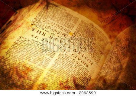 Open Bible Showing The Revelation