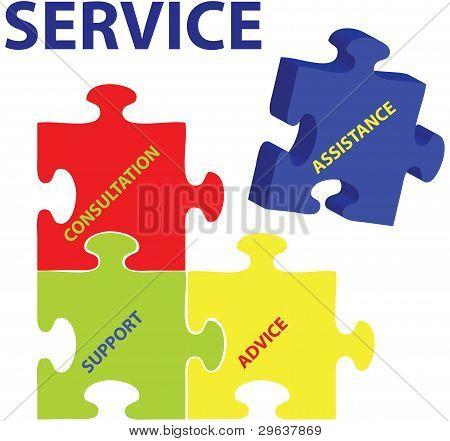 Vector de servicio