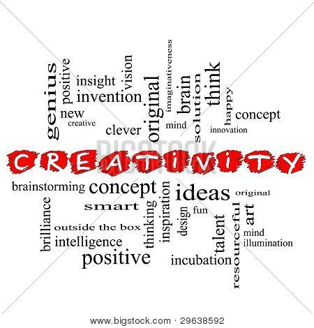 Creativity Word Cloud Concept Scribbled