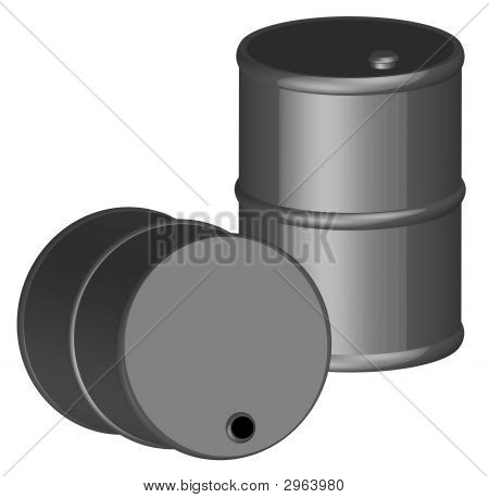 Barrel Black 3D