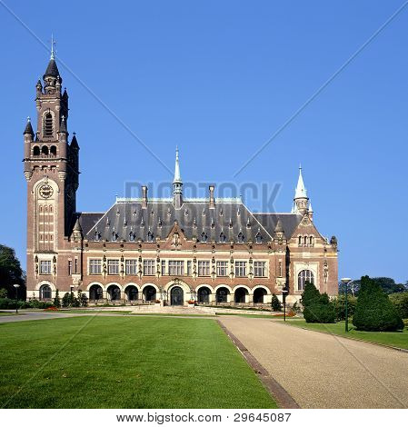 The Peace Palace In The Hague( Holland)